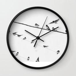 Swallows on Wires #society6 #decor #buyart #kirovair Wall Clock