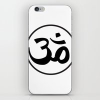 om iPhone & iPod Skins featuring Om by Albino Chewbacca