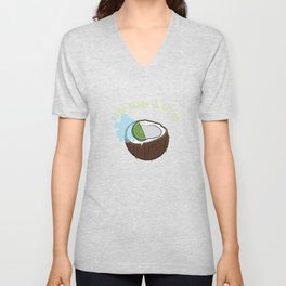 """""""Lime In The Coconut And Shake It All Up"""" tee design perfect for liquor mixers fan out there!   Unisex V-Neck"""