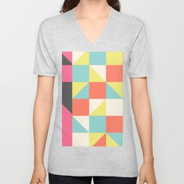 Abstract Aztec Pattern Unisex V-Neck