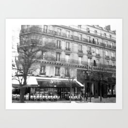 Driving Past the Cafe Art Print