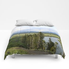 Yellowstone River Valley View Comforters