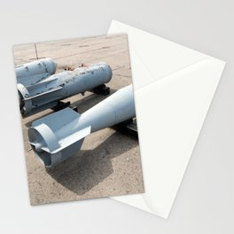 Armament of aircraft and helicopters rockets, bombs, cannons Stationery Cards