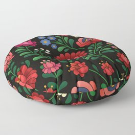 Hungarian flowers Floor Pillow