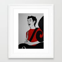 charlie Framed Art Prints featuring Charlie by Feral Doe