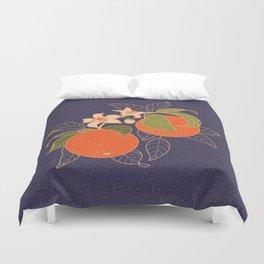 Orange Branch Duvet Cover