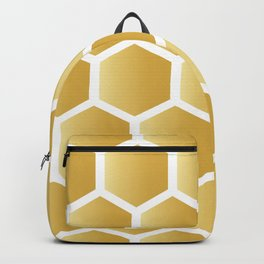Honeycomb pattern - gold Backpack