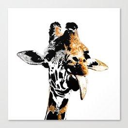 Silly Giraffe Canvas Print