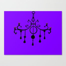 A Chandler with a Purple Background Canvas Print