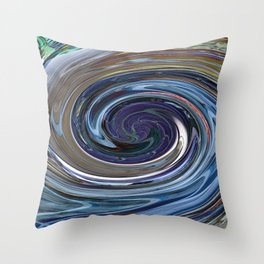 Abstract BLUE Impression Throw Pillow