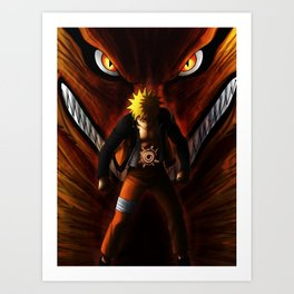 Naruto kyubi Art Print