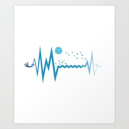 Heart Beat Athlete And WOPO Player Gift Art Print
