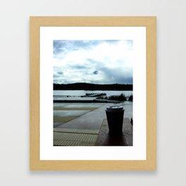 Coffee by the Lake Framed Art Print