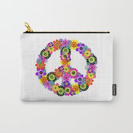 Peace Sign of Flowers Carry-All Pouch