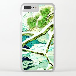 The Winter Green Clear iPhone Case
