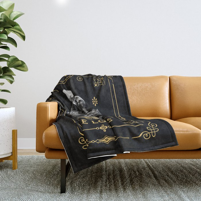 The Lovers VI Tarot Card Throw Blanket
