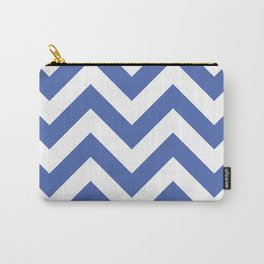 Large chevron pattern / royal blue Carry-All Pouch