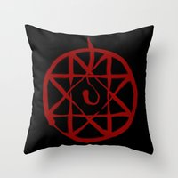 fullmetal Throw Pillows featuring Alphonse by KanaHyde