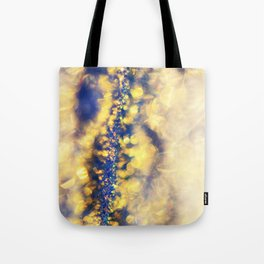 Ice Canyon in Purple and Gold Tote Bag