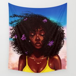 Purple X Melanin Wall Tapestry