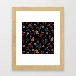 I love ice cream 2 . Framed Art Print