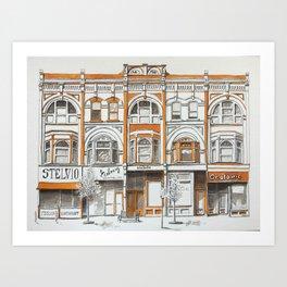 Queen Street Arcade Toronto Art Print