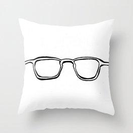 Four Eyes - B/W Throw Pillow