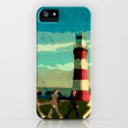 The Fab Four take a stroll onboard Plymouth Hoe iPhone Case