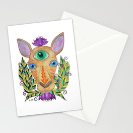 Eye of Omniscience of a kangaroo Stationery Cards