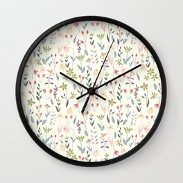 Wildflowers in the Air Sage Wall Clock