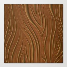 Deep Wood Grain Pattern Canvas Print