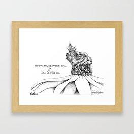 GIDEON Frog Prince Print Framed Art Print