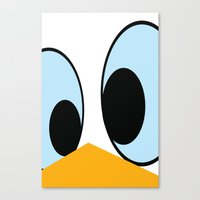 donald duck Canvas Prints featuring Donald duck by Cardula