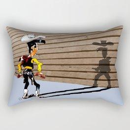 OUUUPS! - wooden wall version Rectangular Pillow