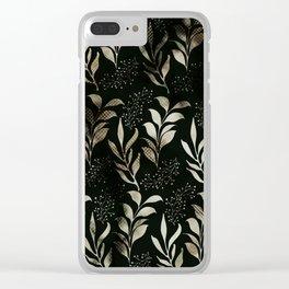 f l pattern Clear iPhone Case