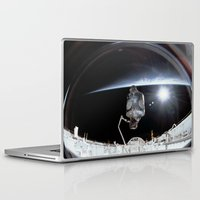 nasa Laptop & iPad Skins featuring NASA International Space Station by Planet Prints