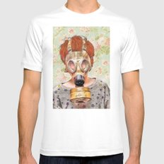 Atomic White Mens Fitted Tee SMALL