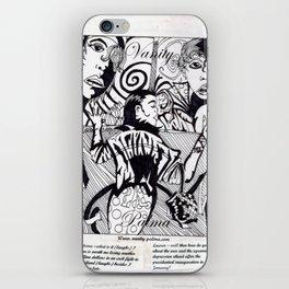 Vanity noir Pop iPhone Skin