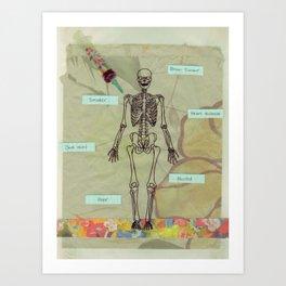 written in your blood Art Print