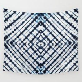 Diamonds Indigo Wall Tapestry