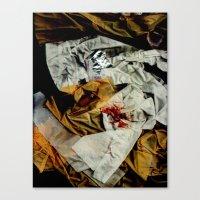 bathroom Canvas Prints featuring bathroom by meredith w ochoa