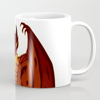 smaug Mugs featuring The Hobbit- Smaug by prpldragon