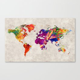 World Map 50 Canvas Print