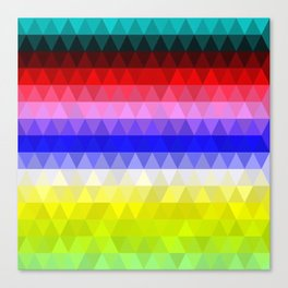 Geometric Colours Canvas Print