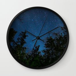 Stars above the Forest Wall Clock