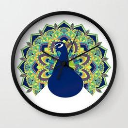 Peacock Plume Wall Clock