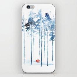 Sleeping in the woods iPhone Skin