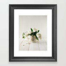 Still life with white lilacs Framed Art Print