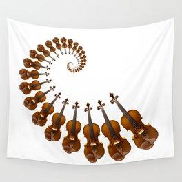 Stradivarius violin spiral music Wall Tapestry
