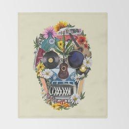 summer skull Throw Blanket